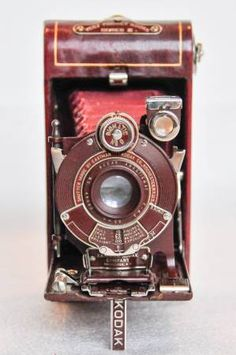 Antique Rare Kodak Vanity Red Vest Pocket Series III