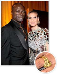 Heidi Klum and Seal  In 2004, Seal proposed to supermodel Heidi Klum with a 10-carat canary-yellow diamond ring.
