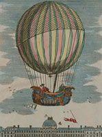 Expérience du globe aerostatique du MM. Charles et Robert au Jardin des Thuileries le 1er décembre 1783