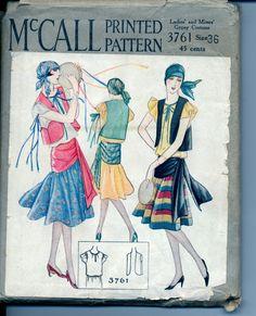 Vintage 1930's Women's Gypsy Costume Pattern by AtomicRegeneration