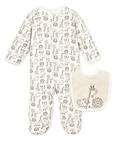 Little Me Safari Footie Ivory Multi Preemie *** You can get additional details at the image link.