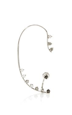 Shop Graduated White To Black Dots Earring by Delfina Delettrez for Preorder on Moda Operandi