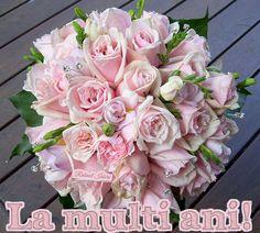 La mulţi ani,de ziua ta! | Rubinul Iubirii Rose Wedding Bouquet, Wedding Flowers, Rose Flowers, Good Morning Flowers, Floral Artwork, Beautiful Flower Arrangements, Floral Photography, Love Rose, Beautiful Roses