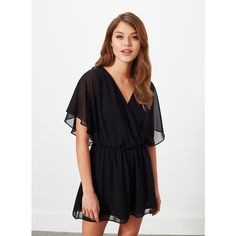Miss Selfridge Lace Back Playsuit ($68) ❤ liked on Polyvore featuring jumpsuits, rompers, black, miss selfridge, lace back romper, playsuit romper, black rompers and black romper