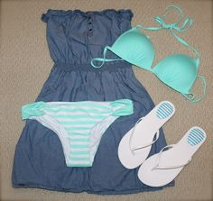 Cute beach outfit. i can't wait for this summer! I'm killing the beach this year!