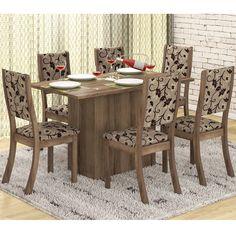 Para dar um charme a mais na decoração da sua sala de jantar, aposte nos conjuntos estampados.