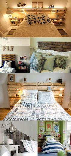 cabeceira pallet copy Como decorar gastando pouco: 10 dicas pra deixar seu velho quarto novinho em folha!: