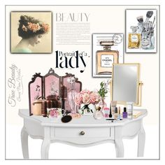 """""""Dressing Table Beauty"""" by frenchfriesblackmg ❤ liked on Polyvore featuring beauty, Chanel, amika, LSA International, Sephora Collection, Disney, Lauren B. Beauty, Lancôme, Lord & Taylor and Be Delectable"""