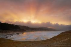 A sunrise from Cape Kiwanda at Pacific City, Oregon. Pacific City Oregon, Oregon Coast, Pacific Ocean, Cape Kiwanda, Sunrise, Awesome, Beach, Water, Photographers
