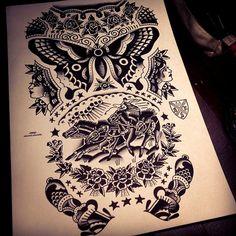thievinggenius:  Done bySway Tattooer.