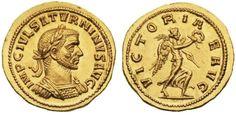 AV Aureus ND 281AD Antioch Mint/Syria Saturnius usurper during reign of Probus Unique/ one known