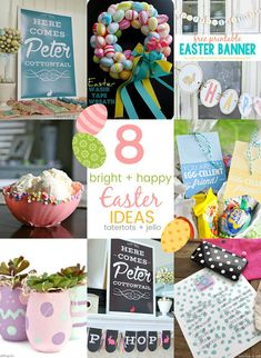 8 Bright and Happy DIY Easter Ideas - easy ways to bring the spirit of Easter into YOUR home!