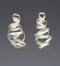 """Tornado Earrings"" Silver Earrings by Rina S. Young on Artful Home"