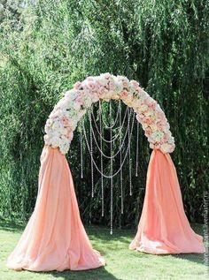 Свадебные аксессуары ручной работы. Ярмарка Мастеров - ручная работа. Купить Арка свадебная. Оформление свадьбы. Handmade. Комбинированный, арка #weddingevents
