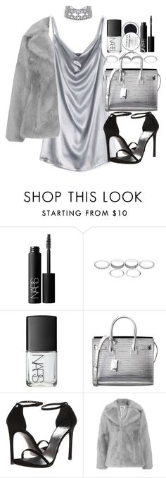 """""""Untitled #20948"""" by florencia95 ❤ liked on Polyvore featuring NARS Cosmetics, Yves Saint Laurent, Stuart Weitzman and Jakke"""