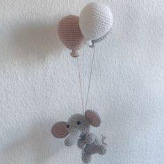 """179 synes godt om, 26 kommentarer – @mormorshaekleliv på Instagram: """"En lille elefant klar til nye eventyr#hækle #hæklet #haekling #hækling #crochet #crochetaddict…"""" Crochet Baby Toys, Crochet For Kids, Knitting Projects, Knitting Patterns, Crochet Patterns, Baby Boy Or Girl, Baby Fever, Animals And Pets, Kids Room"""