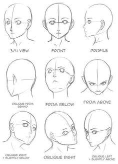 Manga Drawing Tips Drawing Tips Face shape Pencil Art Drawings, Art Drawings Sketches, Face Drawings, Manga Illustrations, Animae Drawings, Sketches Of Faces, Body Sketches, Face Illustration, Flower Sketches