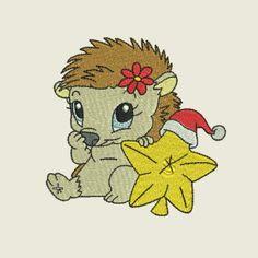 Christmas time hedgehog 05 | Spookies Treasures Hedgehogs, Christmas Time, Hedgehog