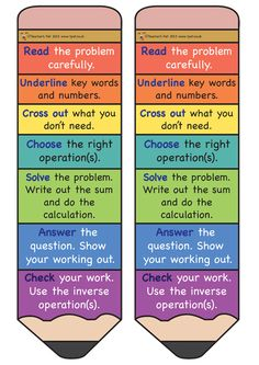Here's a set of problem solving pencils with reminders for students on the steps… Maths Classroom Displays, Ks2 Classroom, Primary Classroom, Maths Display Ks2, Teaching Displays, Classroom Charts, Math Strategies, Math Resources, School Resources