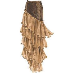 Velvet-Silk Tiered Skirt - The J. Peterman Company