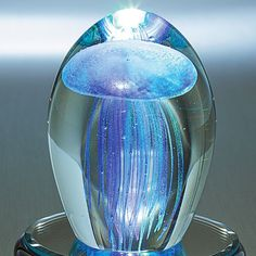 Blue Baby Jellyfish Paperweight