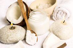 Kokosöl Kosmetik selber machen - Rezept für selbst gemachte Kokosöl Creme fürs Baby mit nur 3 Zutaten - wirkt entzündungshemmend und pflegt die empfindliche Baby-Haut ...