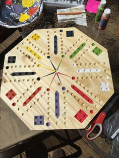 DIY Aggravation Board Game Homemade Games Marble Wooden Projects