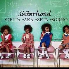 Let us move away from all European influence. Africans civilized the greeks. Let's instill in our children that being black is glorious and powerful. These are the chosen children of the Most High God, from the tribe of Judah. Aka Sorority, Alpha Kappa Alpha Sorority, Sorority Life, Sorority And Fraternity, Sorority Sisters, Omega Psi Phi, Zeta Phi Beta, Delta Sigma Theta, Black Girl Art