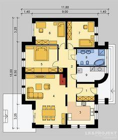 Projekty domów LK Projekt LK&810 rzuty Parter
