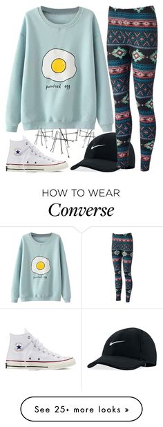 """cute cute cute"" by volleyballspikr on Polyvore featuring NIKE and Converse"