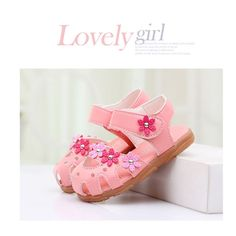 Children Sandals Shoes Fashion Causal Flat Baby Sandals Summer Flower Soft Bottom Child Girls Sandal Princess Sandalia Infantil #Affiliate