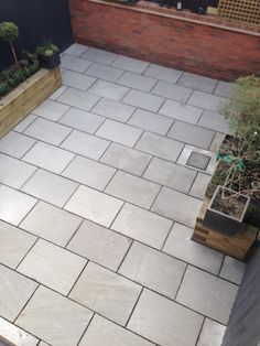 Patio Ideas With Paving Slabs. Paving Slab Ideas Cheap Garden Paving Small Patios With . Marshalls Argent Smooth Patio Paving In Leigh Manchester. Home Design Ideas Patio Blocks, Patio Slabs, Patio Fence, Bluestone Patio, Paver Walkway, Patio Tiles, Patio With Pavers, Outdoor Paving, Concrete Walkway