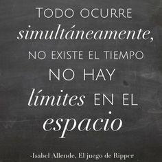 -Isabel Allende, El juego de Ripper