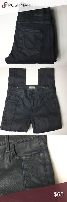 "TRUE RELIGION HALLE SUPER SKINNY IN COATED NIGHT Like new! Inseam is approximately 31"". Inseam is approximately 8.5"". True Religion Jeans Skinny"