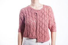 Items similar to Handmade knitting Fretted pink Blouse on Etsy Line Shopping, Fasion, Hand Knitting, Knit Crochet, Elegant, Trending Outfits, Blouse, Sweaters, Pink