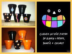 Macetas Planter Pots, Mugs, Tableware, Plant Pots, Black And White, Colors, Dinnerware, Tumblers, Tablewares