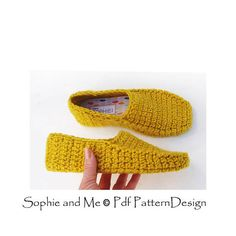 Winter Loafer Crochet Pattern  Slippers  Instant Download