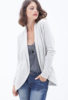 French Terry Open Cardigan #F21Contemporary