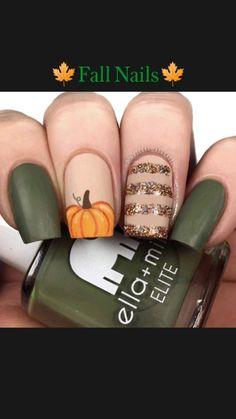 Neutral Nail Designs, Neutral Nails, Fall Nail Designs, Aycrlic Nails, Hair And Nails, Cute Acrylic Nails, Cute Nails, Almond Nails Designs, Halloween Nail Art
