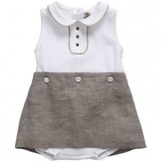 i know it wrinkles but i still love babies in linen....