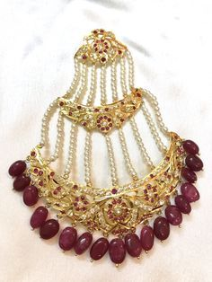 Image result for hyderabadi ruby earrings