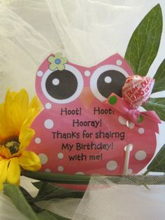 Hoot Owl  Birthday Favors Set of 12 by CountryBumpkinBottle, $12.00