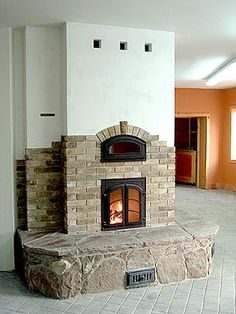 Finish by Alex Chernov Masonry Oven, Chalet Style, Natural Homes, Rocket Stoves, Buying A New Home, Architectural Elements, Interior And Exterior, Beautiful Homes, Building A House