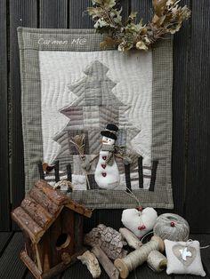 winter snowman quilt