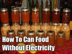 how to can food without electricity. this sight is kind of a hoot.  I believe in being prepared but......