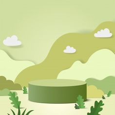 Photo Backgrounds, Green Backgrounds, Food Poster Design, 3d Background, Photography Backdrops, Green Plants, Geometric Shapes, Vector Art, Paper Art