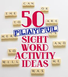 Post image for 50 Playful Sight Words Activity Ideas