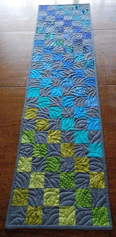 quilted modern table runnercontemporary patchwork table