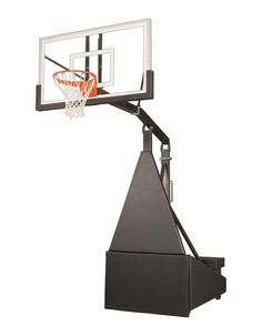 First Team Storm Pro Portable Adjustable Basketball Hoop 60 inch Tempered Glass from NJ Swingsets