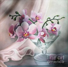Orchids by vesnamartinjak on Etsy Orchids Painting, Greeting Cards, Wall Art, Unique Jewelry, Handmade Gifts, Flowers, Etsy, Art Ideas, Icons